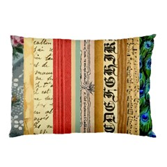 Digitally Created Collage Pattern Made Up Of Patterned Stripes Pillow Case (two Sides)