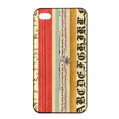 Digitally Created Collage Pattern Made Up Of Patterned Stripes Apple iPhone 4/4s Seamless Case (Black)