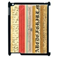 Digitally Created Collage Pattern Made Up Of Patterned Stripes Apple iPad 2 Case (Black)