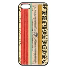 Digitally Created Collage Pattern Made Up Of Patterned Stripes Apple iPhone 5 Seamless Case (Black)