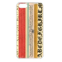 Digitally Created Collage Pattern Made Up Of Patterned Stripes Apple iPhone 5 Seamless Case (White)