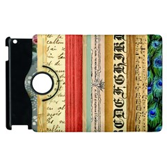 Digitally Created Collage Pattern Made Up Of Patterned Stripes Apple iPad 3/4 Flip 360 Case