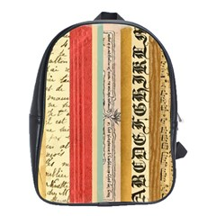 Digitally Created Collage Pattern Made Up Of Patterned Stripes School Bags (xl)