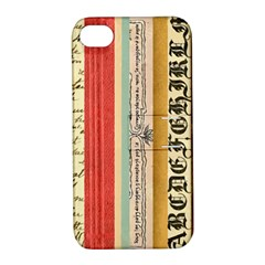 Digitally Created Collage Pattern Made Up Of Patterned Stripes Apple iPhone 4/4S Hardshell Case with Stand