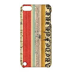 Digitally Created Collage Pattern Made Up Of Patterned Stripes Apple iPod Touch 5 Hardshell Case with Stand