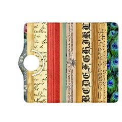Digitally Created Collage Pattern Made Up Of Patterned Stripes Kindle Fire HDX 8.9  Flip 360 Case