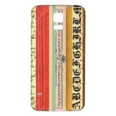 Digitally Created Collage Pattern Made Up Of Patterned Stripes Samsung Galaxy S5 Back Case (white)
