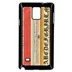 Digitally Created Collage Pattern Made Up Of Patterned Stripes Samsung Galaxy Note 4 Case (black)