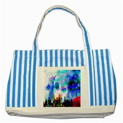 Dirty Dirt Spot Man Doll View Striped Blue Tote Bag
