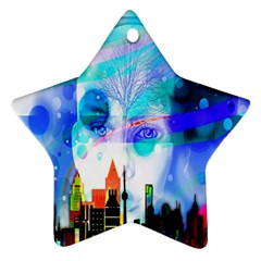 Dirty Dirt Spot Man Doll View Star Ornament (two Sides)
