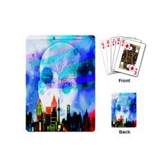Dirty Dirt Spot Man Doll View Playing Cards (mini)