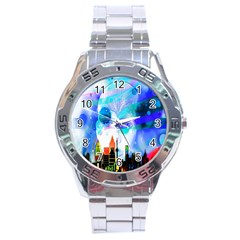 Dirty Dirt Spot Man Doll View Stainless Steel Analogue Watch