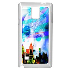 Dirty Dirt Spot Man Doll View Samsung Galaxy Note 4 Case (White)