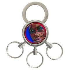 Display Dummy Binary Board Digital 3-Ring Key Chains