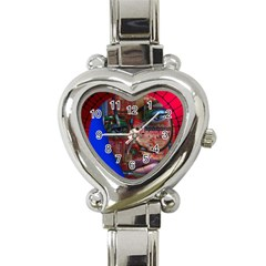 Display Dummy Binary Board Digital Heart Italian Charm Watch