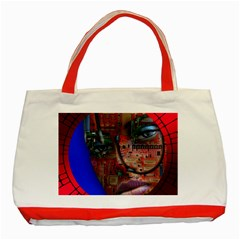 Display Dummy Binary Board Digital Classic Tote Bag (Red)