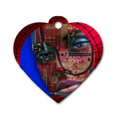 Display Dummy Binary Board Digital Dog Tag Heart (two Sides)