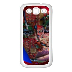 Display Dummy Binary Board Digital Samsung Galaxy S3 Back Case (white)