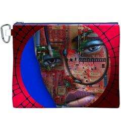 Display Dummy Binary Board Digital Canvas Cosmetic Bag (XXXL)