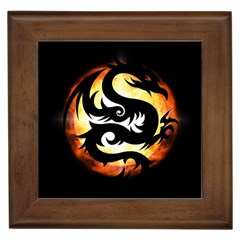 Dragon Fire Monster Creature Framed Tiles
