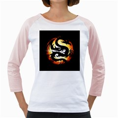 Dragon Fire Monster Creature Girly Raglans