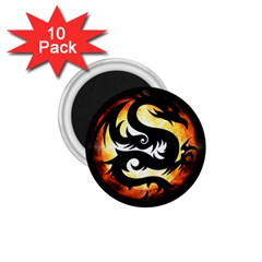 Dragon Fire Monster Creature 1.75  Magnets (10 pack)