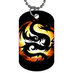 Dragon Fire Monster Creature Dog Tag (one Side)