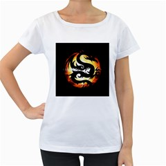 Dragon Fire Monster Creature Women s Loose Fit T Shirt (white)