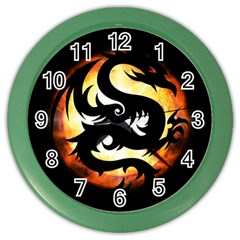 Dragon Fire Monster Creature Color Wall Clocks