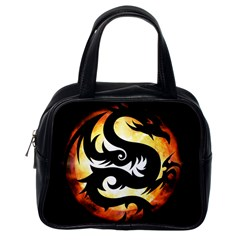 Dragon Fire Monster Creature Classic Handbags (One Side)