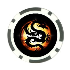 Dragon Fire Monster Creature Poker Chip Card Guard (10 Pack)