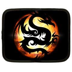 Dragon Fire Monster Creature Netbook Case (XL)
