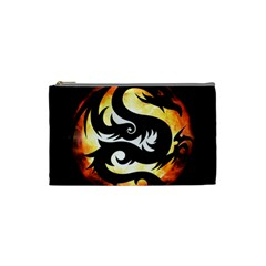 Dragon Fire Monster Creature Cosmetic Bag (Small)