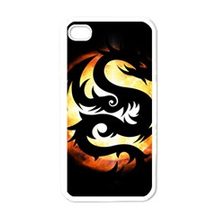 Dragon Fire Monster Creature Apple Iphone 4 Case (white)