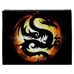 Dragon Fire Monster Creature Cosmetic Bag (XXXL)