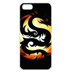 Dragon Fire Monster Creature Apple Iphone 5 Seamless Case (white)
