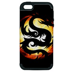 Dragon Fire Monster Creature Apple iPhone 5 Hardshell Case (PC+Silicone)