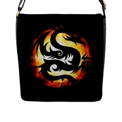 Dragon Fire Monster Creature Flap Messenger Bag (L)