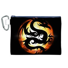 Dragon Fire Monster Creature Canvas Cosmetic Bag (XL)