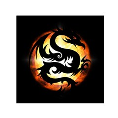 Dragon Fire Monster Creature Small Satin Scarf (Square)