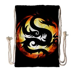 Dragon Fire Monster Creature Drawstring Bag (large)