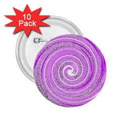 Digital Purple Party Pattern 2.25  Buttons (10 pack)