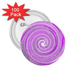 Digital Purple Party Pattern 2.25  Buttons (100 pack)