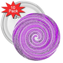 Digital Purple Party Pattern 3  Buttons (10 Pack)