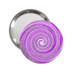 Digital Purple Party Pattern 2.25  Handbag Mirrors