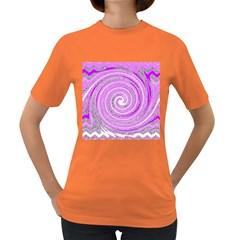 Digital Purple Party Pattern Women s Dark T-Shirt
