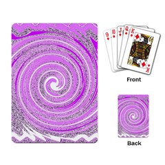 Digital Purple Party Pattern Playing Card