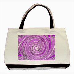 Digital Purple Party Pattern Basic Tote Bag