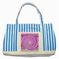 Digital Purple Party Pattern Striped Blue Tote Bag