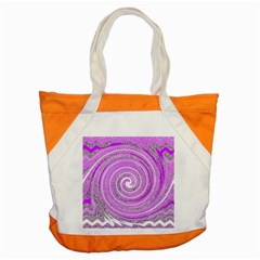 Digital Purple Party Pattern Accent Tote Bag